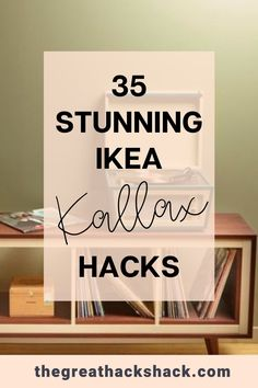The Ikea Kallax shelves are incredibly versatile. Here are some of the best Ikea Kallax hacks that demonstrate just what you can do with it. #ikeakallaxhacks #ikeahack #kallaxhacks #ideas Ikea Shelf Hack, Ikea Kallax Shelving, Ikea Kallax Hack, Ikea Shelves, Ikea Hacks, Ikea Furniture Hacks, Furniture Projects, Garage Room, Ikea Inspiration