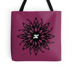 'Dahlia' Tote Bag by ColkimDesign Large Bags, Small Bags, Cotton Tote Bags, Reusable Tote Bags, Doodle Characters, Ink Doodles, Dahlia Flower, Black And White Design, Medium Bags