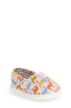 TOMS 'Peru' Llamas Print Slip-On (Baby, Walker & Toddler) | Shopswell