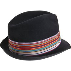 Grevi Striped Band Felt Fedora Sale up to 70% off at Barneyswarehouse.com