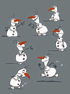 Frozen Character Design http://billschwabdesign.blogspot.com/
