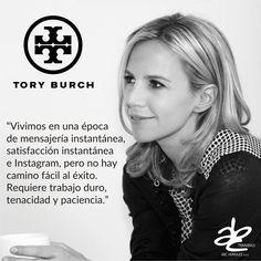 """Hoy los dejamos con esta frase de la Famosa diseñadora Norteamerica Tory Burch: """"Vivimos en una época de mensajería instantánea, satisfacción instantánea e Instagram, pero no hay camino fácil al éxito. Requiere trabajo duro, tenacidad y paciencia."""" #ABCherrajes #Diseñadores #ToryBurch #Moda #FelizFinDeSemana"""
