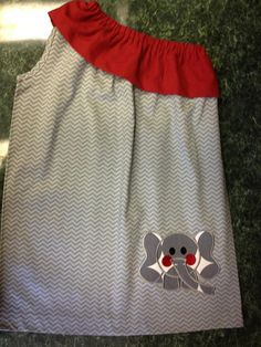 Gray chevron Alabama game day dress