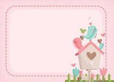 Micro Creche, Doodle Frames, Framed Wallpaper, Bird Party, Printable Tags, Printables, Baby Album, Scrapbook Embellishments, Cute Cartoon Wallpapers