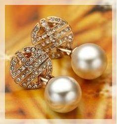 Brincos de ouro e prata se jóia e semi jóias, folhados e banhados. - Joia em ouro e pérola