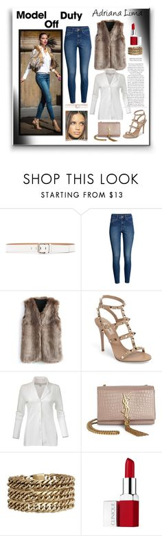 """adriana lima"" by giada2017 on Polyvore featuring moda, Calvin Klein Jeans, H&M, Chicwish, Valentino, Yves Saint Laurent, Jenny Bird e Clinique"
