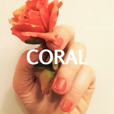 Get creative with your corals! Inspiration for coral, peach, orange nail polish creations