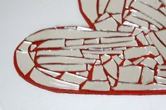 DIY Crafts: Turn a Broken Mirror and Cardboard into Mosaic Art! Do a heart shape for Valentine's Day decor!