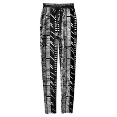 Proenza Schouler Asymmetrical Printed Crêpe Pants - Black and White Pants - ShopBAZAAR