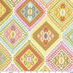 """44-45"""" wide, 100% cotton. Geometric Pastel Mosaic Fabric is sold by the yard.    Geometric Pastel Mosaic Fabric SKU Y41209"""