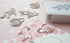 Cat shaped paper clips from Muji.
