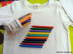 dde113d0ce Hace mucho tiempo que tenia en mi laaaaaarga lista de pendientes decorarle  una camiseta a Genís con Crayons. La idea y los consejos los saqu.