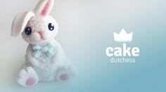 Bunny – Video Tutorial - Cake Dutchess Easter Cake Tutorials, Cake Dutchess, Fondant People, Biscuit, Fondant Decorations, Easter Cupcakes, Fondant Toppers, Modeling Chocolate, Fondant Tutorial