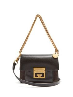 GV3 mini suede and leather cross-body bag | Givenchy | MATCHESFASHION.COM