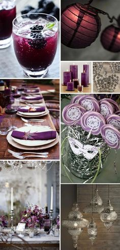 Having a #Purim party is a fantastic way to celebrate the holiday with young and old.  Add a masquerade to it and it's a slam dunk!  We love this purple-themed #Purim party.  #DreidelJams