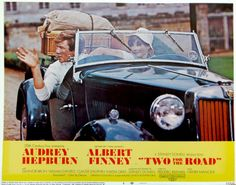 TWO FOR THE ROAD! Audrey Hepburn/Albert Finney in 1950 MG TD