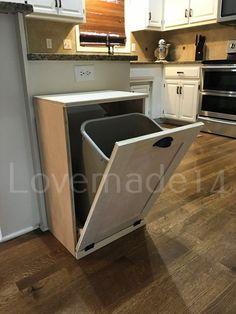Free Ship Rustic tilt out trash bin trash can S-raw-FL | Etsy Diy Kitchen, Kitchen Decor, Kitchen Ideas, Kitchen Inspiration, Kitchen Cabinets, Cheap Kitchen, Island Kitchen, Kitchen Sinks, Kitchen Modern
