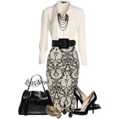 A fashion look featuring NIC+ZOE blouses, Jane Norman skirts and GUESS sandals. Browse and shop related looks.