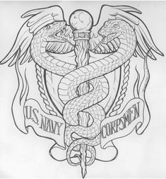 Commission request for a tattoo design. Rick Johnson (tattooist and owner of Best tattoos was creativ enough to fill in his own choice of colors (which . Us Navy Corps Commish Request Us Navy Tattoos, Marine Tattoos, Naval Tattoos, Military Tattoos, Mom Tattoos, Future Tattoos, Body Art Tattoos, Nursing Tattoos, Flag Tattoos