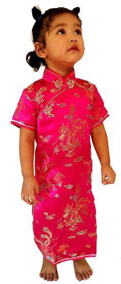 abab3c150 Little Girls Chinese Dress Cheongsam Geisha Cosplay Girls Size 2 Rose --  Find out more about the great product at the image link.