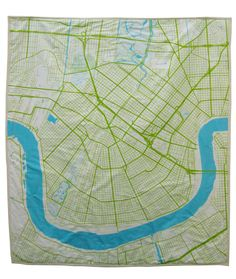 @Kate Hanson - New Orleans map baby quilt. So cool!