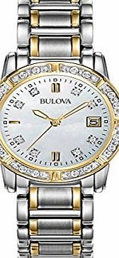 Bulova Diamond Highbridge Girls Quartz Watch with Mother of Pearl Dial Analogue Display and White Stainless With styles for every lifestyle demand the Bulova brand features dress career casual and sport watches for men and women. Product Description : - Quartz analogue movement (Barcode EAN = 7613077441787) http://www.comparestoreprices.co.uk/ladies-watches/bulova-diamond-highbridge-girls-quartz-watch-with-mother-of-pearl-dial-analogue-display-and-white-stainless.asp