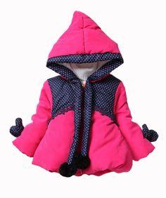 Amazon.com: Baby Girls Princess Hair Bulb Hoodie Kids Thicken Polka Dot Outwear Jacket Coat: Clothing