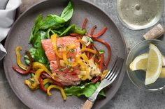 Roasted Salmon with Red Pepper Sauté - Dr. Mark Hyman
