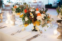 Nantucket Yacht Club Wedding | Fall Wedding | Orange, White and Green | Nantucket Wedding | Soiree Floral | Ashley Cox Photography