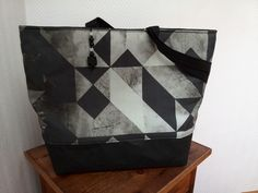 Tasche Materialmix Mirkofaser#SnapPap