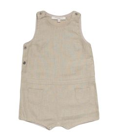 linen romper - caramel baby + child