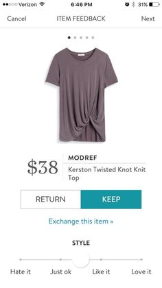 Modref - Kersten Twisted Knot Knit Top. Stitch Fix 2016