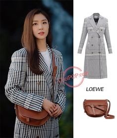 Let's take a look at the coat Seo Ji-hye wears in episode 4 of Korean Drama 'Crash Landing On You'. Blackpink Fashion, Fashion Line, India Fashion, Asian Fashion, Winter Fashion, Fashion Looks, Fashion Outfits, Kpop Outfits, Cute Outfits
