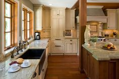 light counters with oak cabinets    http://www.houzz.com/photos/344883/Ruxton-kitchen-eclectic-kitchen-baltimore