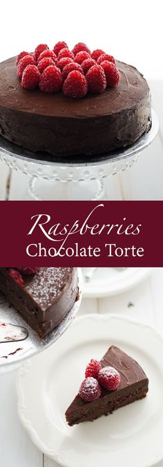 Raspberries Chocolate Torte recipe. Its rich, decadent chocolate cake with chocolate frostings. Serve with fresh raspberries.