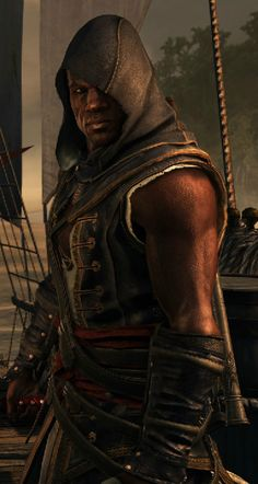 Adewale - The Jackdaws Quartermaster, and Captain for a spell. A master Assassin, and a Captain in his own right aboard the Experto  -- Assassin's Creed 4