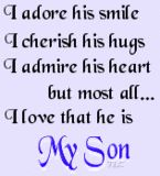 I love my sons...