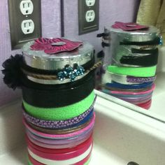 Duct tape headband holder (: