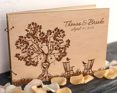 Build Memories Wedding Guest Book Custom Wood Wedding