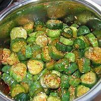Meksykańskie ogórki Chicken Nuggets, Ketchup, Preserves, Pickles, Salads, Food And Drink, Homemade, Vegetables, Cooking