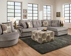 16B0 Gray Sectional - Puritan Furniture West Hartford CT.