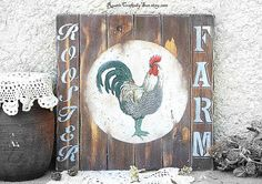 Rooster signRooster SignsCountry Primitive  by RusticCraftsbySue
