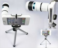 iphone for more refined photography with zoom lens and tripod stand