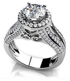 Diadori layered halo diamond engagement ring Cant get enough of