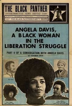 Black Panther Party newspaper. Design  illustration by Emory Douglas.