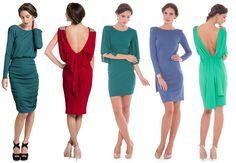 vestidos de punto para invitadas lamasmona.com