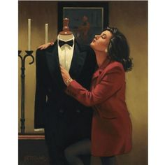 Jack Vettriano ~ The Longing U r waiting for a type to wear my suit, ' to fit in it u need to wait for a sunrise at sunset time
