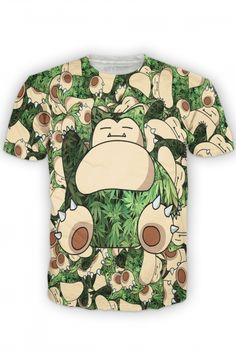 Snorlax Weed T Shirt designed by Chris Munoz - #REPIN for a chance to win!   Contest Rules: 1 winner picked DAILY Must share 2 product posts to qualify Winner will be added to a VIP Facebook Group Winner will is announced 4-6 days after the contest and will receive 1 product from Let's Rage!