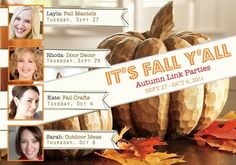 Fall link party-lots of fall projects!