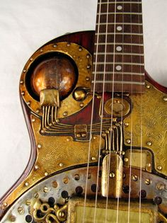 The IonoGlobe guitar (detail), played by Farber Endison in the late 1950ies. #steampunk